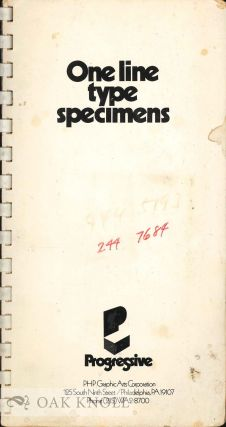 ONE LINE TYPE SPECIMENS. P H. P. Graphic Arts