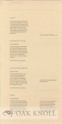 Catalogue of Ives Street Press publications