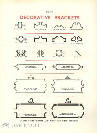 SPECIMEN BOOK OF TYPE FACES RULES, BORDERS & ORNAMENTS.