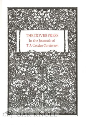 THE DOVES PRESS IN THE JOURNALS OF T.J. COBDEN-SANDERSON.