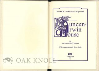 A SHORT HISTORY OF THE DUNCAN-IRWIN HOUSE.