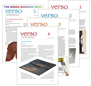 VERSO: A MAGAZINE FOR THE BOOK AS A WORK OF ART (COMPLETE RUN). Alan Loney.