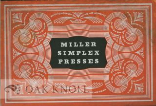 THE NEW MILLER SIMPLEX PRESSES