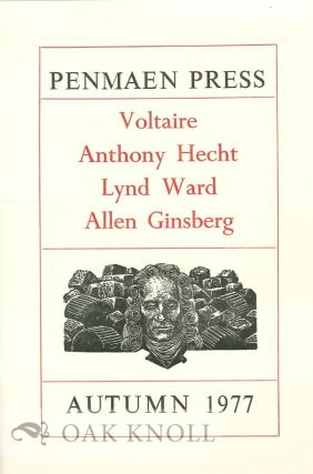 Collection of Penmaen Press Ephemera.