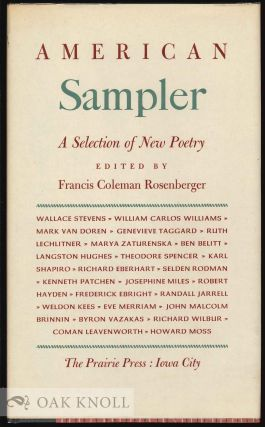 AMERICAN SAMPLER: A SELECTION OF NEW POETRY