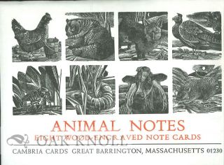 ANIMAL NOTES: EIGHT WOOD-ENGRAVED NOTE CARDS.