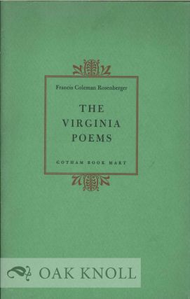 THE VIRGINIA POEMS. Francis Coleman Rosenberger