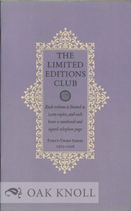 THE LIMITED EDITIONS CLUB