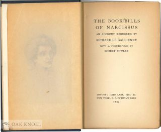 THE BOOK BILLS BY NARCISSUS.