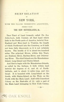A BRIEF DESCRIPTION OF NEW YORK FORMERLY CALLED NEW NETHERLANDS.