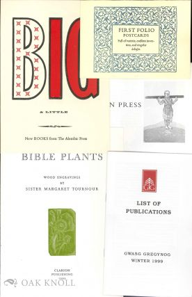 Collection of catalogues, prospectuses, and ephemera of Fine Press Book Association members