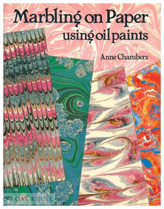 MARBLING ON PAPER USING OIL PAINTS. Anne Chambers.