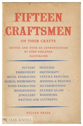 FIFTEEN CRAFTSMEN ON THEIR CRAFTS. John Farleigh