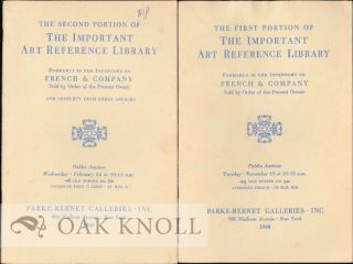 THE FIRST PORTION OF THE IMPORTANT ART REFERENCE LIBRARY FORMERLY IN THE INVENTORY OF FRENCH &...