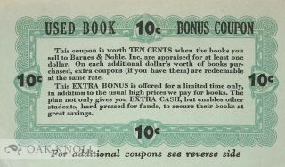 Used Book Bonus Coupon. Barnes, Noble.