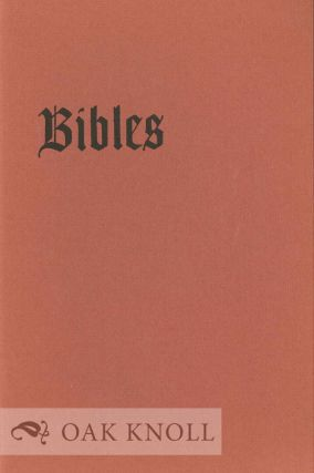 BIBLES OF THE ESTELLE DOHENY COLLECTION