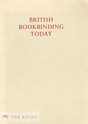 BRITISH BOOKBINDING TODAY