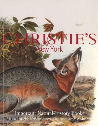 IMPORTANT NATURAL HISTORY BOOKS INCLUDING THE BIRDS OF AMERICA BY JOHN JAMES AUDUBON. Christie's