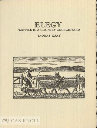 ELEGY WRITTEN IN A COUNTRY CHURCH-YARD. Thomas Gray