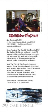Announcement from The Third & Elm Press