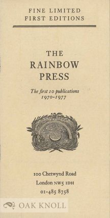 Collection of Rainbow Press brochures.