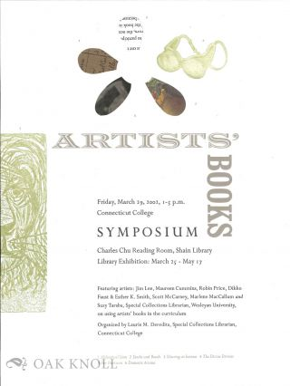 Announcement of Artists' Books Symposium