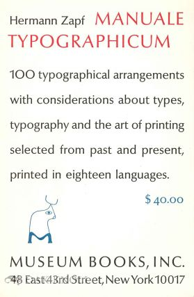 Prospectus for MANUALE TYPOGRAPHICUM