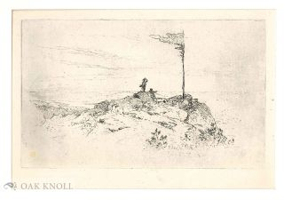 Etching of a rural scene. Frank Anderson.