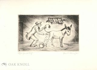 Farmer and donkey scene. Ezel Streck