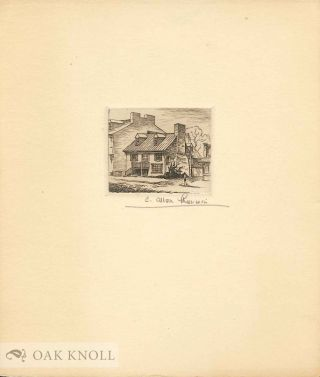 Etching of colonial house. C. Allen Sherwin