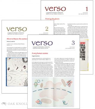 VERSO NEW SERIES: A MAGAZINE FOR THE BOOK AS A WORK OF ART (COMPLETE RUN). Alan Loney