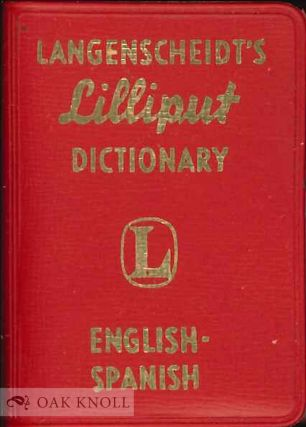 LANGENSCHEIDT'S LILLIPUT DICTIONARY ENGLISH SPANISH.