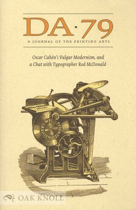 THE DEVIL'S ARTISAN: A JOURNAL OF THE PRINTING ARTS.