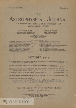 THE ASTROPHYSICAL JOURNAL : AN INTERNATIONAL REVIEW OF SPECTROSCOPY AND ASTRONOMICAL PHYSICS