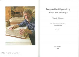 EUROPEAN HAND PAPERMAKING: TRADITIONS, TOOLS, AND TECHNIQUES.