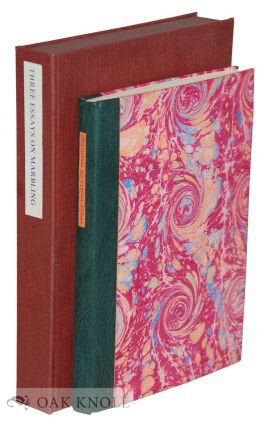 THREE EARLY FRENCH ESSAYS ON PAPER MARBLING, 1642-1765. Richard J. Wolfe