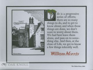 LIFE IS A PROGRESSIVE SERIES OF EFFORTS. William Morris