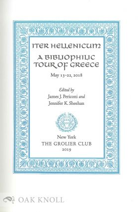 THE GROLIER CLUB ITER HELLENICUM.