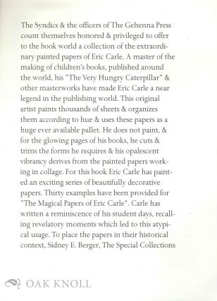 Prospectus for a collection of painter papers of Eric Carle