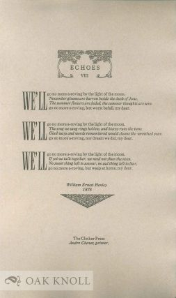 ECHOES VIII. William Ernest Henley