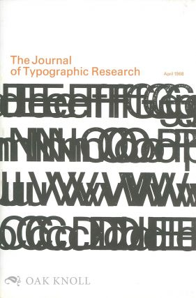 THE JOURNAL OF TYPOGRAPHIC RESEARCH
