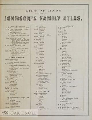 JOHNSON'S NEW ILLUSTRATED (STEEL PLATE) FAMILY ATLAS, WITH DESCRIPTIONS, GEOGRAPHICAL, STATISTICAL, AND HISTORICAL.