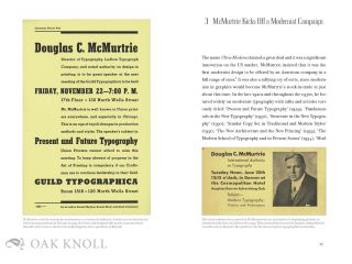 CHICAGO MODERNISM AND THE LUDLOW TYPOGRAPH: DOUGLAS C MCMURTRIE AND ROBERT HUNTER MIDDLETON AT WORK
