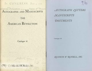 Four catalogues issued by Kenneth W. Rendell