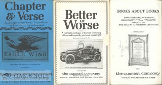 Group of Catalogues issued by The Current Company / Rulon-Miller Books