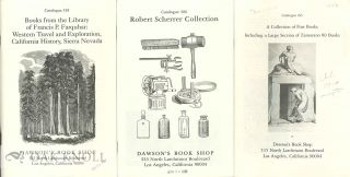 Group of catalogues issued by Dawson's Book Shop