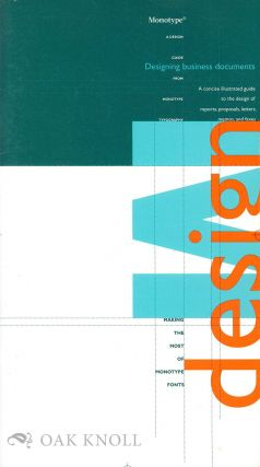 MONOTYPE: DESIGNING BUSINESS DOCUMENTS
