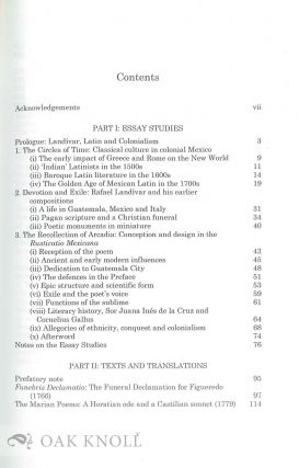 THE EPIC OF AMERICA: AN INTRODUCTION TO RAFAEL LANDIVAR AND THE RUSTICATIO MEXICANA.