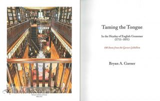 TAMING THE TONGUE IN THE HEYDAY OF ENGLISH GRAMMAR (1711-1851)