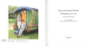 PETER AND DONNA THOMAS: BIBLIOGRAPHY, 1974-2020.